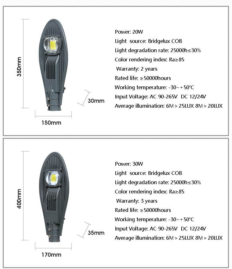 100w cobra head led street light