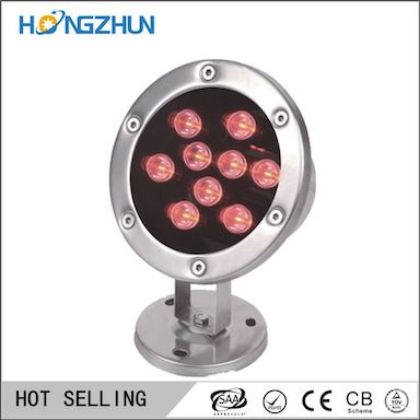 9w stainless steel body  wasser licht water light IP68  with long lifespan