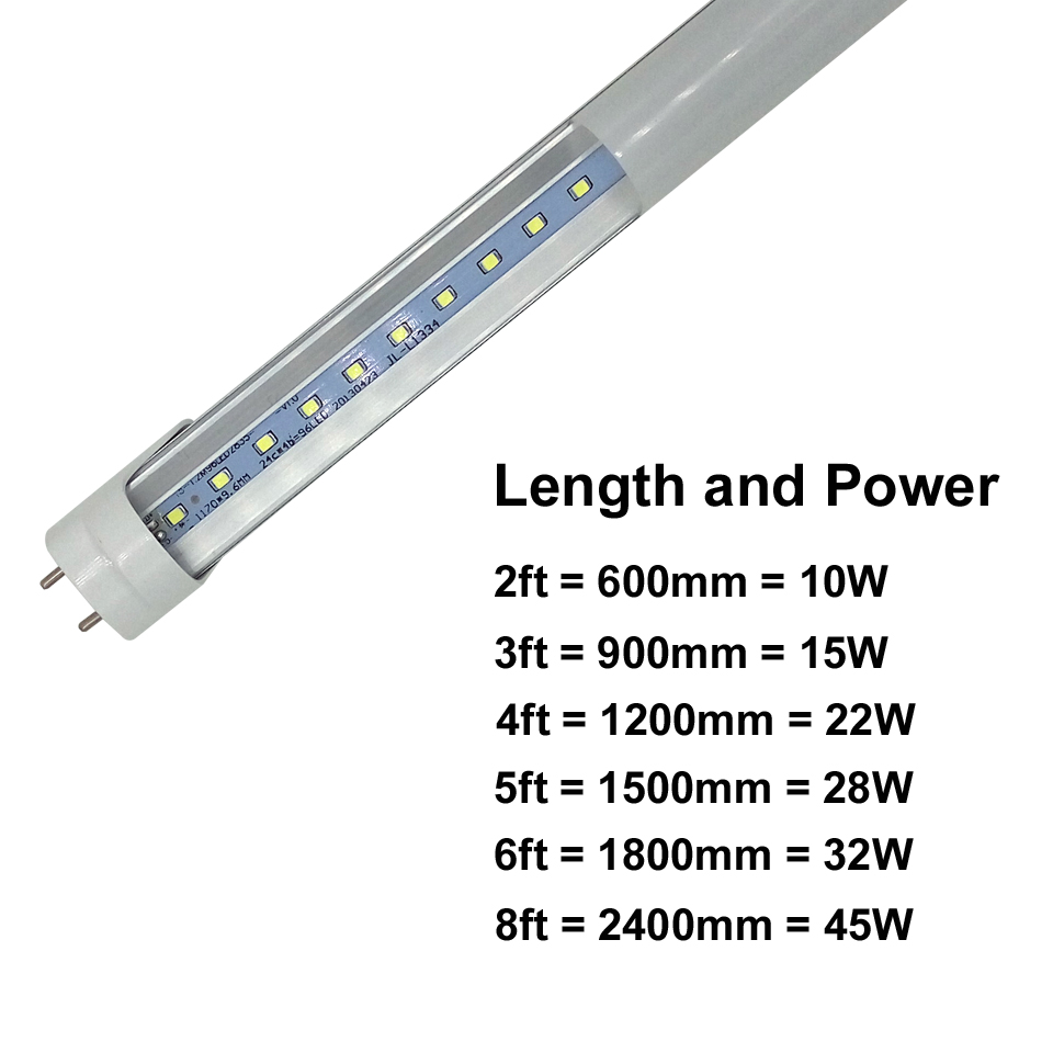 4ft 22W T8 Led Tube Light 1200mm AC85-265V Single Row SMD2835 led lamp 2 years warranty CE RoHS Store In US 100pcs/lot