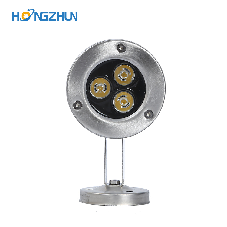 3w led underwater lights stainless steel 304 materials IP68 3years warranty