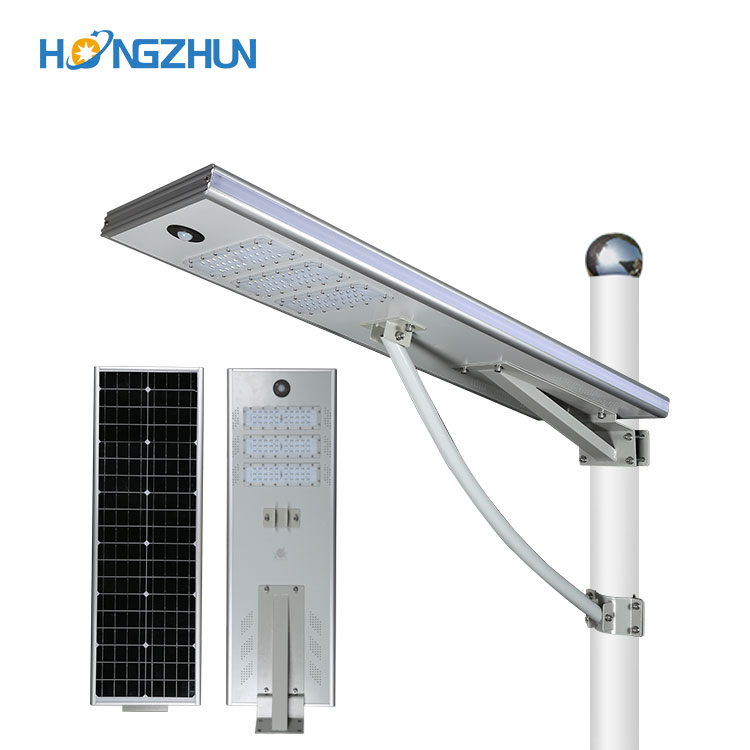 High quality Ip65 outdoor waterproof smd 50w all in one integrated solar led street light